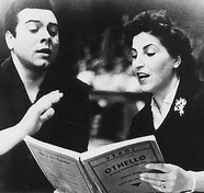 With Licia Albanese, November 1955